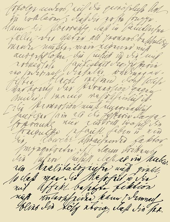 Sigmund Freud's handwriting