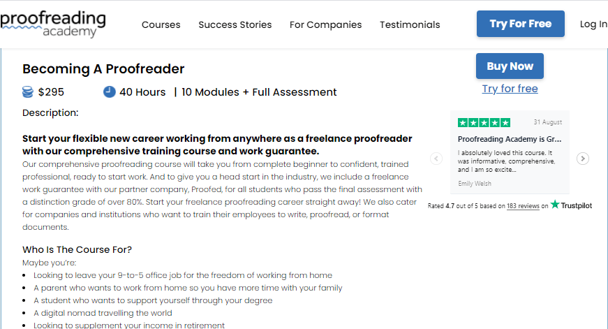 proofreading jobs - course by proofreading academy