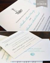 Customized Letter Press Wedding Invitation