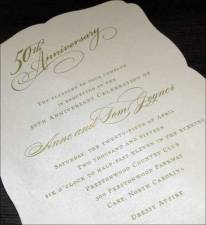 50th Anniversary Party on Shimmer Paper