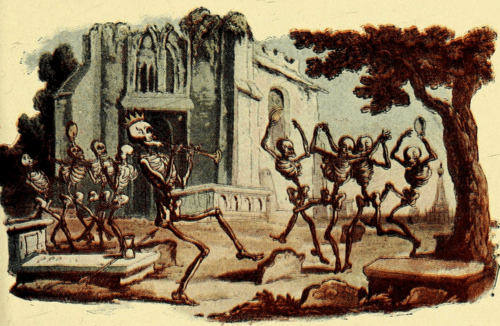 Skeletons dancing
