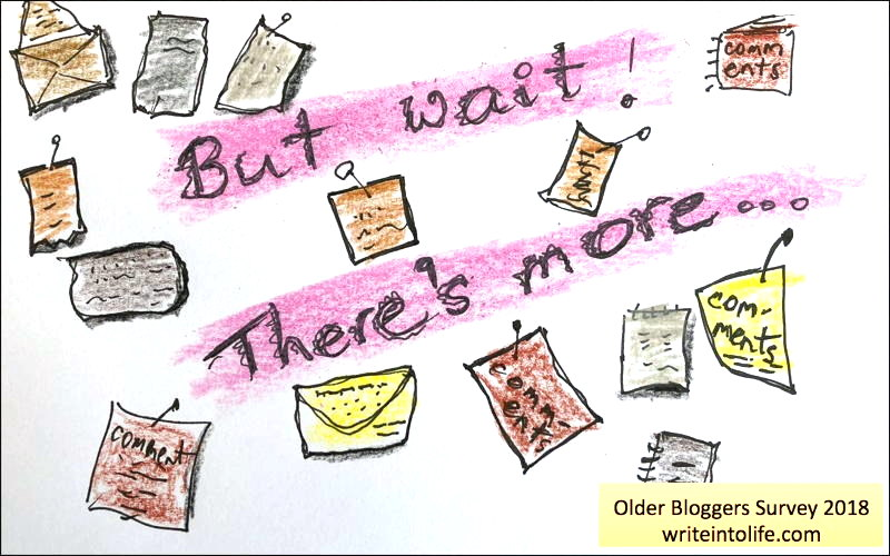 Drawing: But wait! There's more... Comments, Older Bloggers Survey 2018