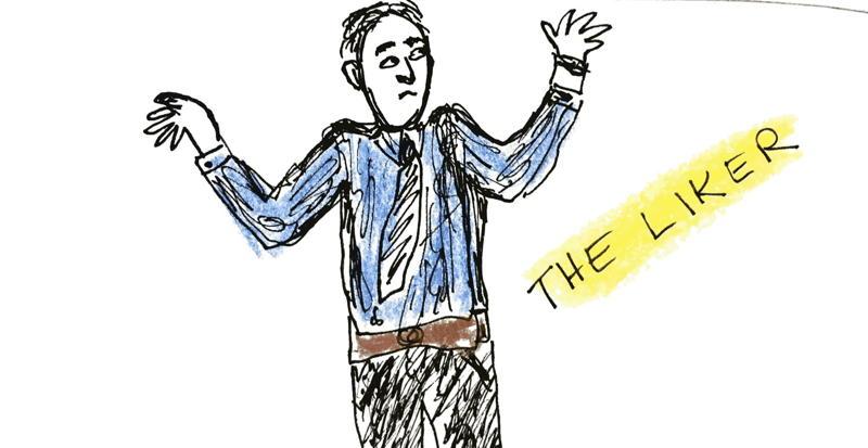 Cartoon: Blogger who blogs because he enjoys it