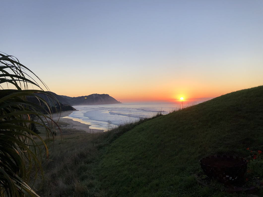 Sunrise over a New Zealand beach