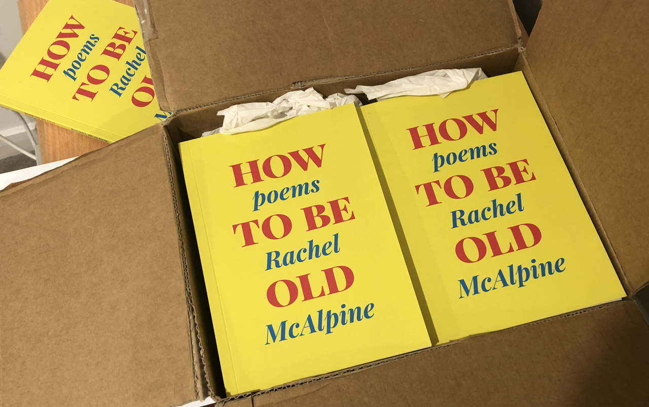photo of books: HOW TO BE OLD poems, Rachel McAlpine