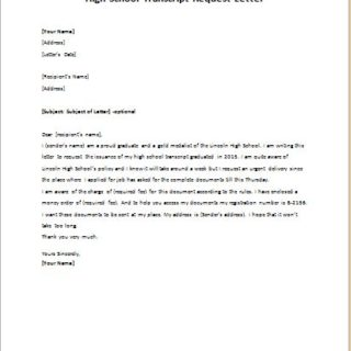 How To Write An Authorization Letter For Transcript