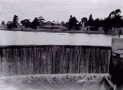 Edwardes Lake spillway, 1947