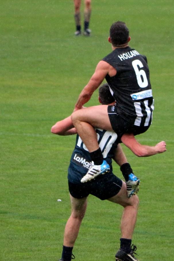 Brodie flies over Hughesy