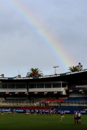 Rainbow over Visy Park