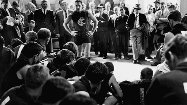 Barassi arrives at the Blues in '65