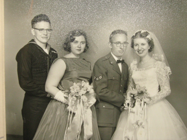 My grandparents (right) on their wedding day -- Oct. 25, 1958