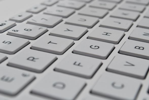 keyboard for typing copy