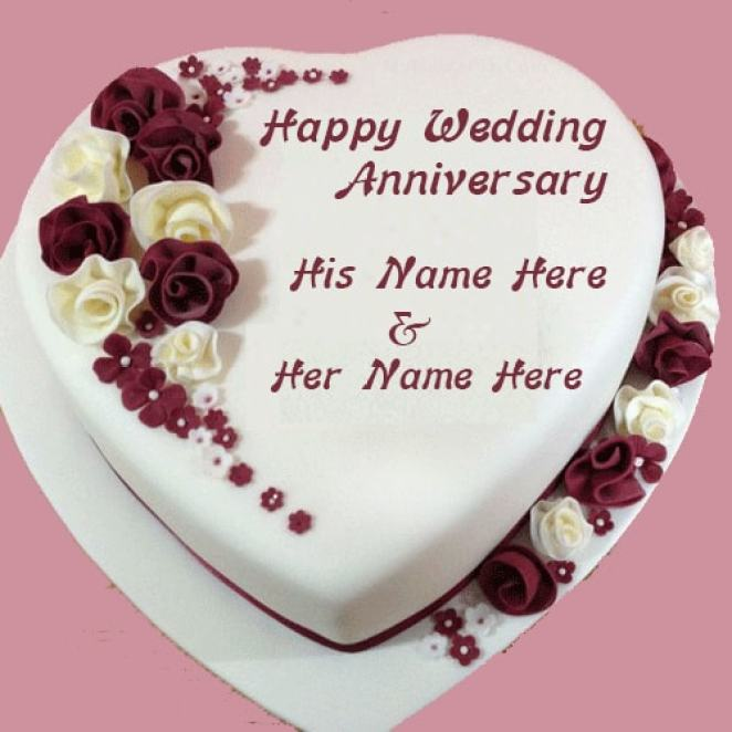 Marriage Anniversary Images With Name Stuvera Com
