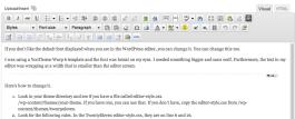 WordPress Editor Before Change