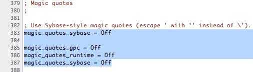 Editing MAMP php.ini file