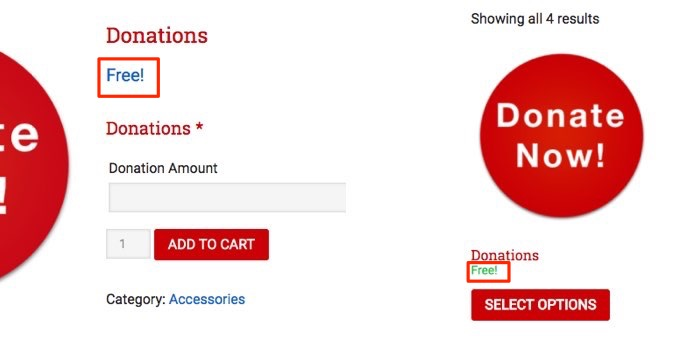 """WooCommerce remove """"Free!"""" from product and category page"""