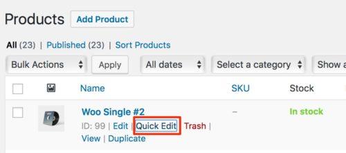WooCommerce Quick Edit Product Order 1