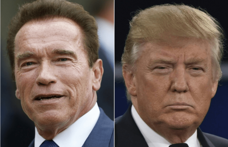 Arnold Schwarzenegger and Donald Trump