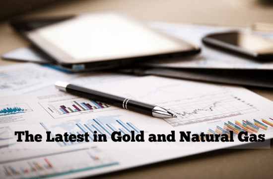 latest commodity trading prices of gold and natural gas