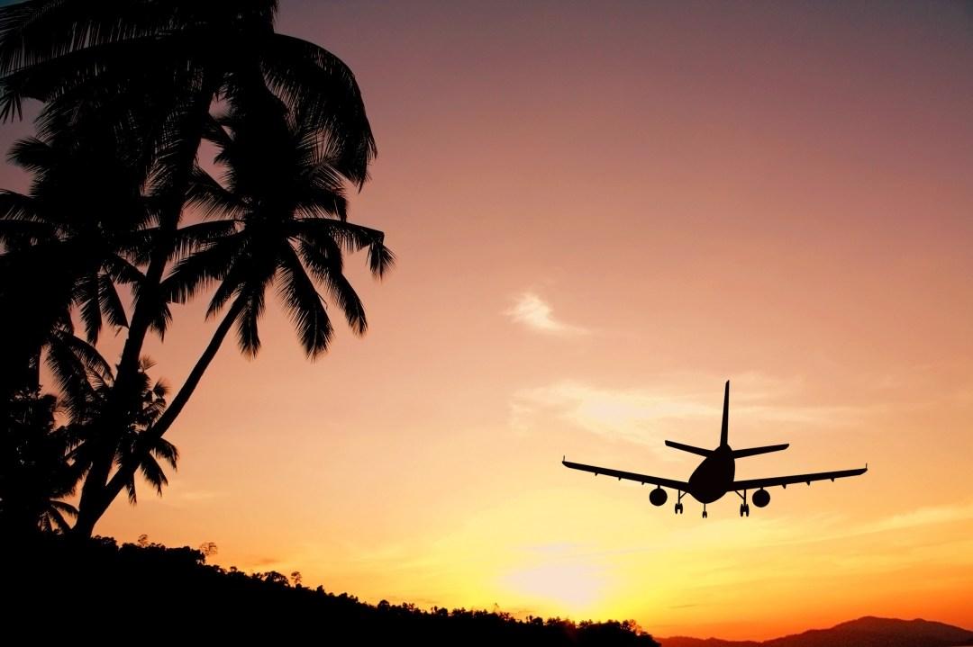 aeroplane, sunset