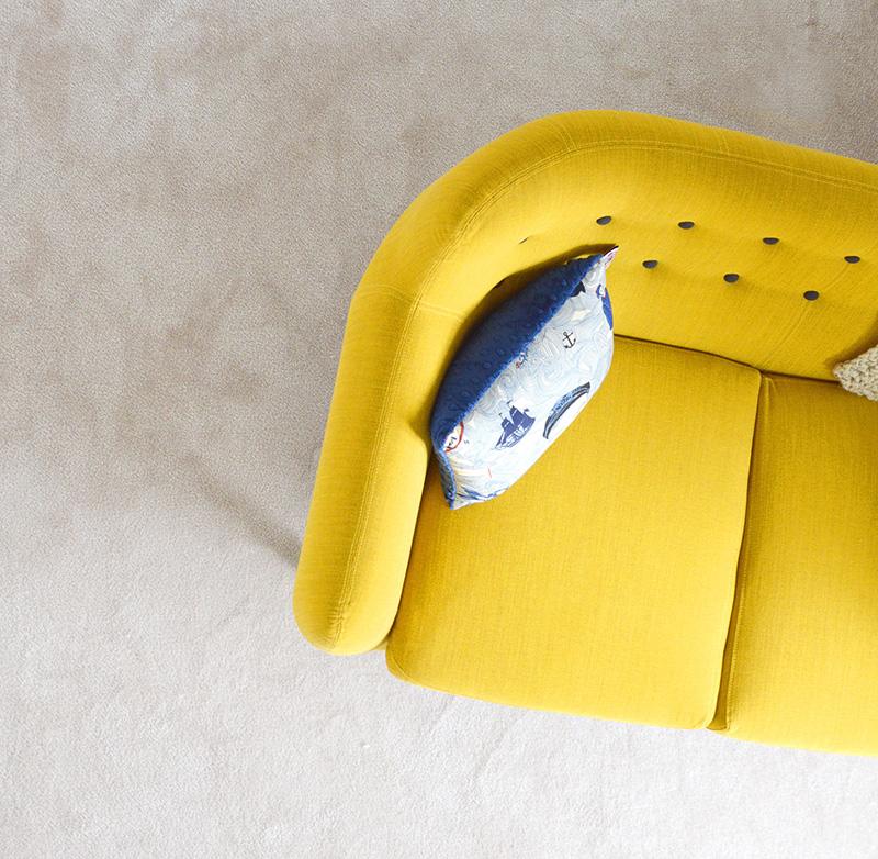 lounge, sofa, yellow lounge, yellow sofa