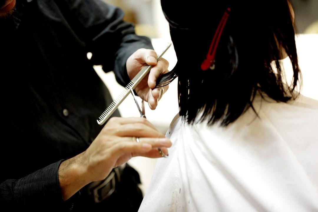 Lady at Hair Salon