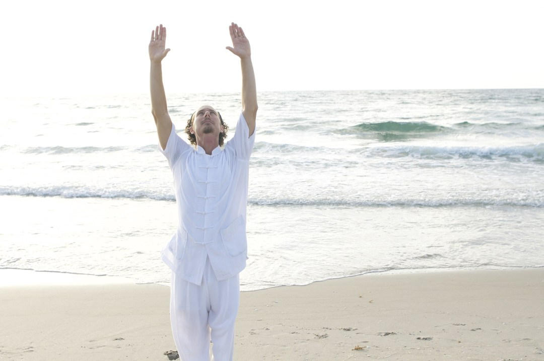 tai chi, exercise, movement, beach