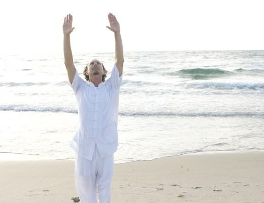 tai chi, exercise, movement, beach