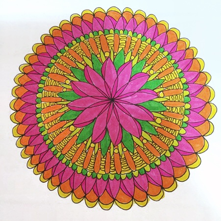 Flower Mandala drawn by Denyse Whelan