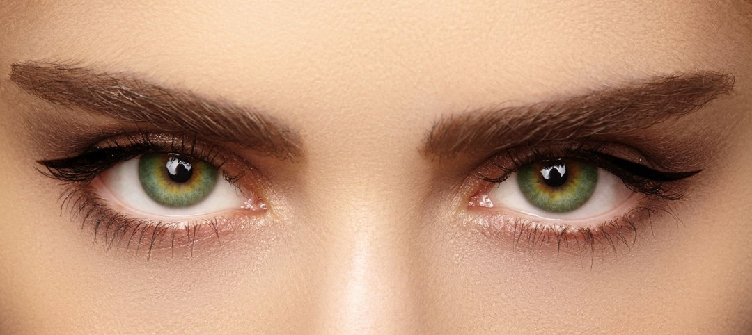 Woman's eye brows and eyes