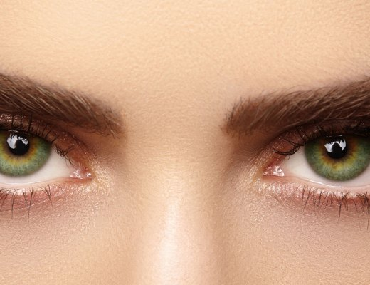 Woman's eyebrows and eyes