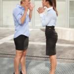 Arguing businesswoman