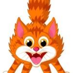 Cute cat cartoon screaming