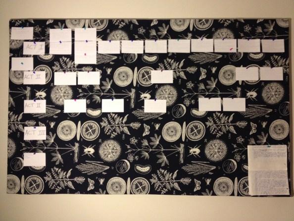 The Board: I've begun plotting scenes on index cards.