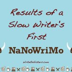 Results of a Slow Writer's First #NaNoWriMo