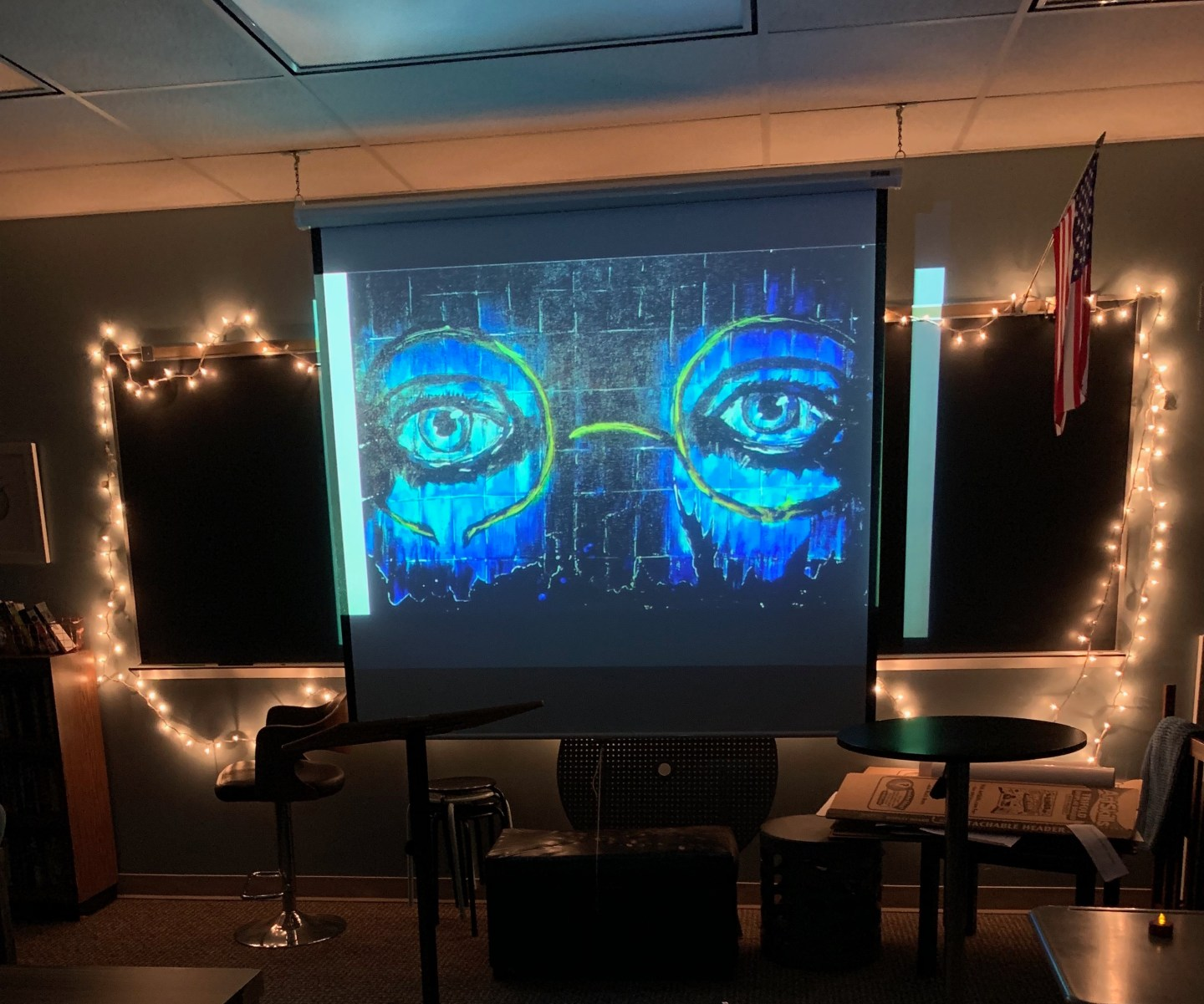 I use the ominous eyes of T.J. Eckleberg to set the scene for our Chapters 1-3 Escape Room!