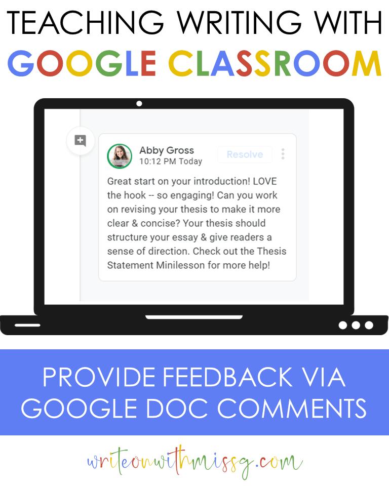 Google docs comments