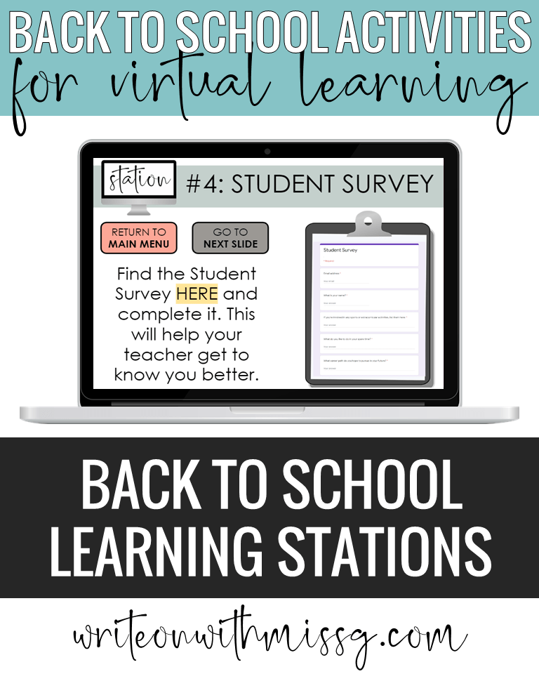 Back to school activity: Learning Stations