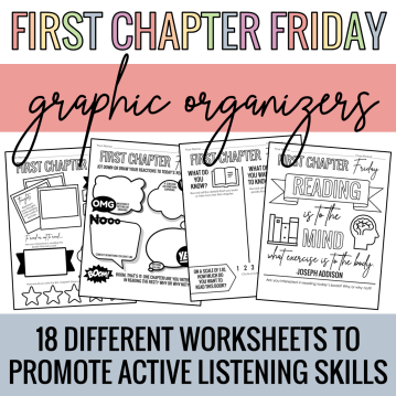 First Chapter Friday Graphic Organizers
