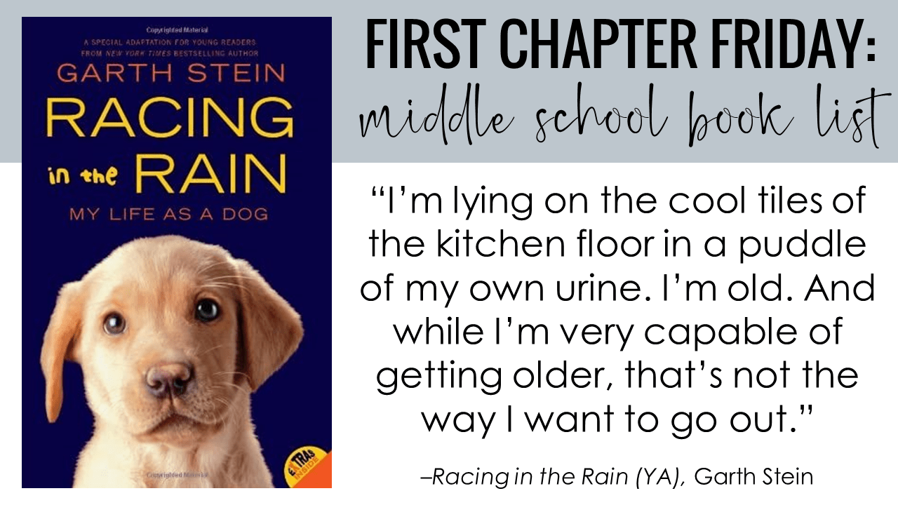 First Chapter Friday Idea: Racing in the Rain (Adaptation for Young Readers), by Garth Stei