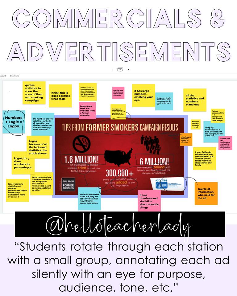 Commercials & advertisements