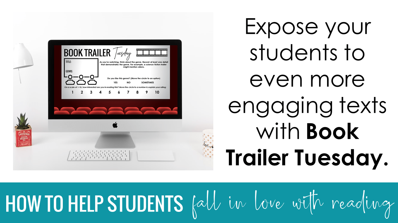 Expose your students to even more engaging texts with Book Trailer Tuesday.