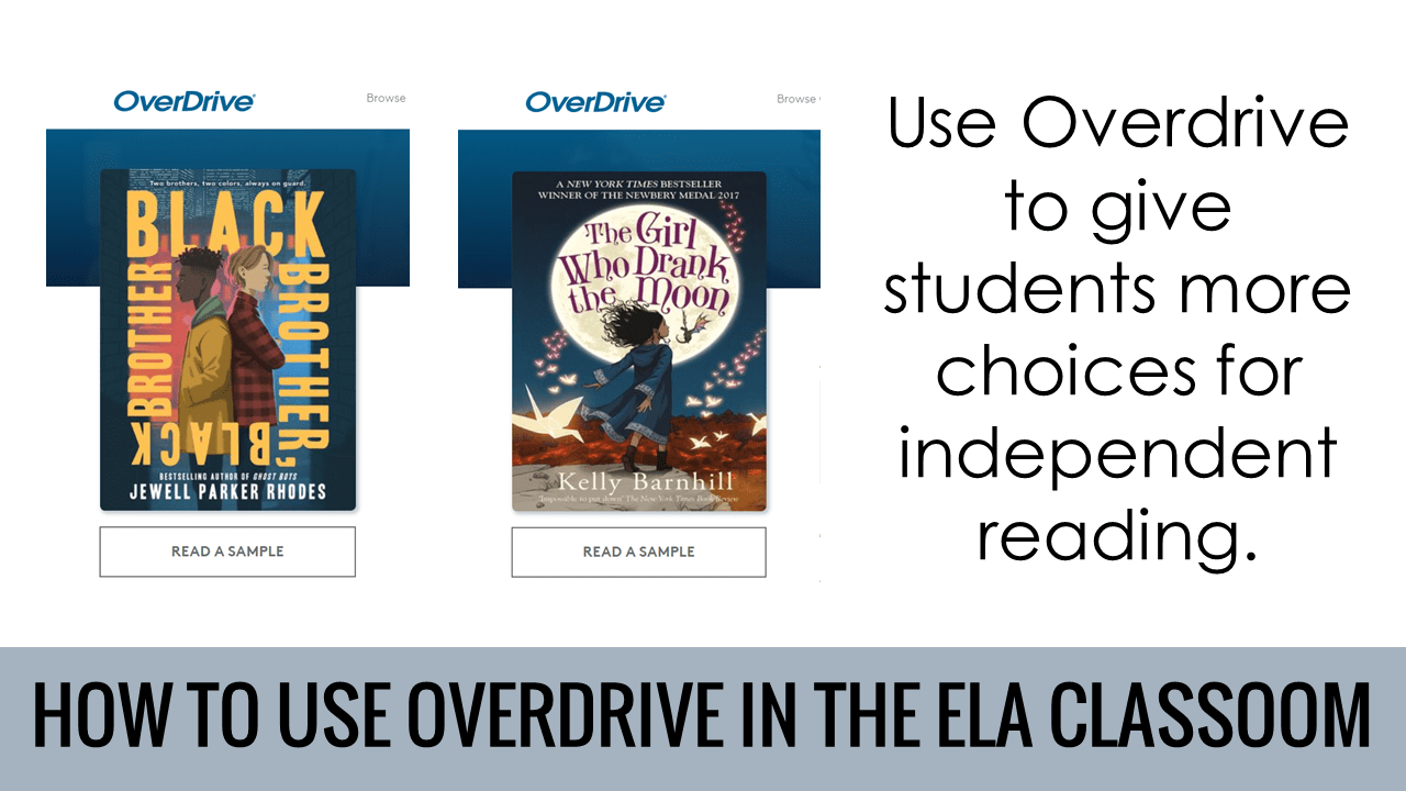 Overdrive will give students more choices for independent reading.