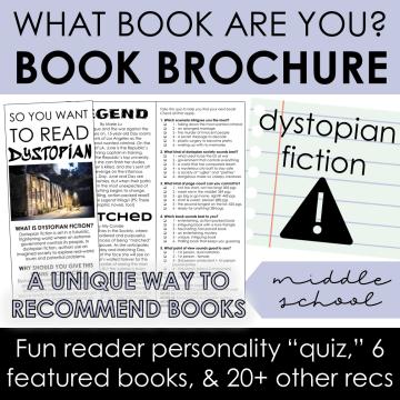Dystopian Book Recommendation Brochure