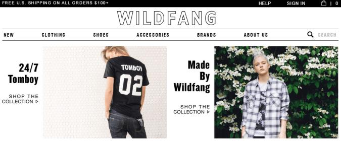 Toko online Wildfang