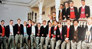 """Eton College class of 2000. I do not know anybody in the picture and resisted the temptation to make-up names like Oliver """"Trumpy"""" Farlingaye-Bligh."""