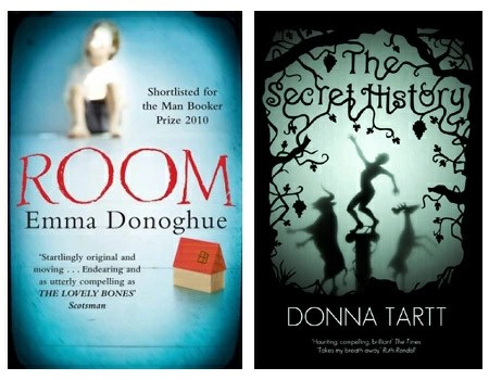 Room by Emma Donohgue and The Secret History by Donna Tartt