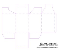 Consumer Packaging Mockup (Dielines Only) by Christine G. Adamo of WriteReviseEdit.com