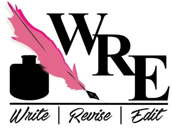Logo Mockup 3 of 3, representing WriteReviseEdit,com, by Christine G. Adamo