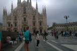 In the main square of Milan - Piazza del Duomo